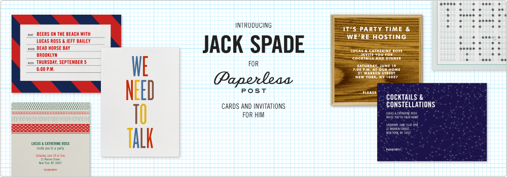 Jack Spade for Paperless Post