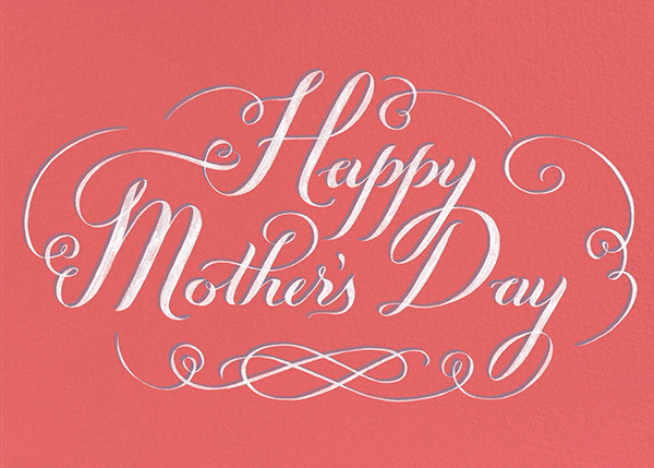 Happy Mothers Day Script - Pink - Paperless Post