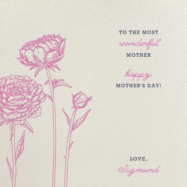 Peonies (Cream) - Paperless Post - Mother's Day