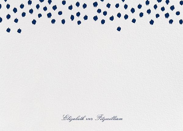 Ikat Dot (Stationery) - Dark Blue - Oscar de la Renta