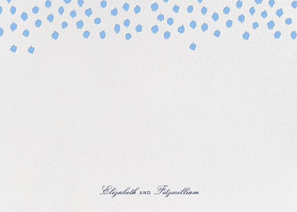 Ikat Dot (Stationery) - Light Blue - Oscar de la Renta