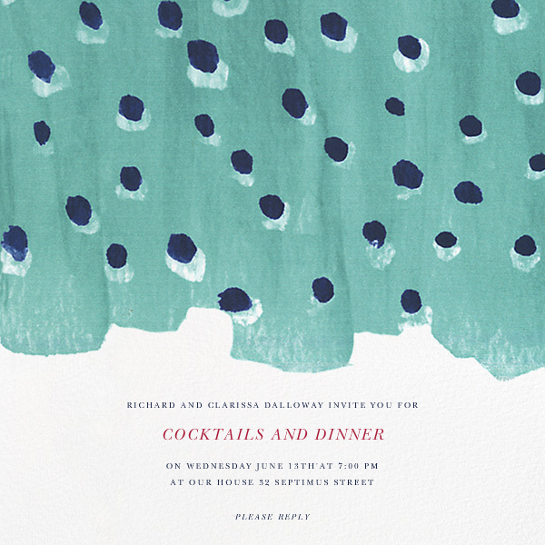 Silk a Pois - Oscar de la Renta - Cocktail party