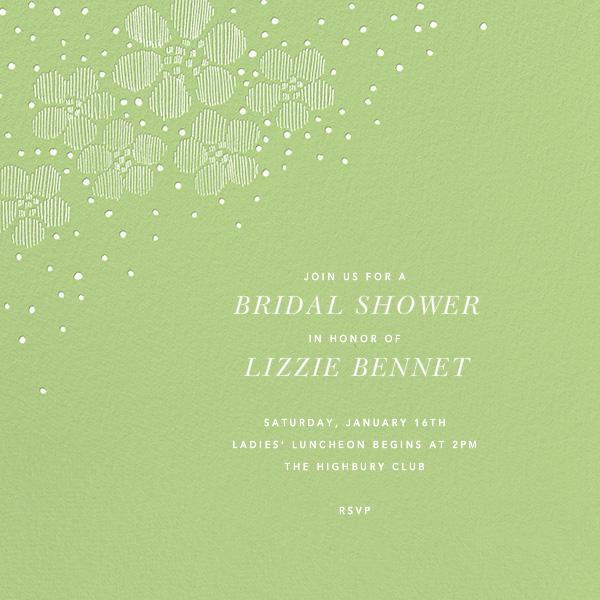 Blossoms on Tulle I Square - Green - Oscar de la Renta - Bridal shower