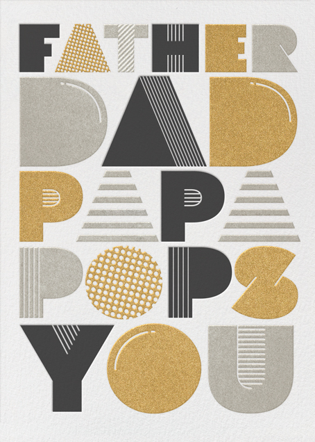 Father Dad Papa Pops You - Paperless Post - Father's Day