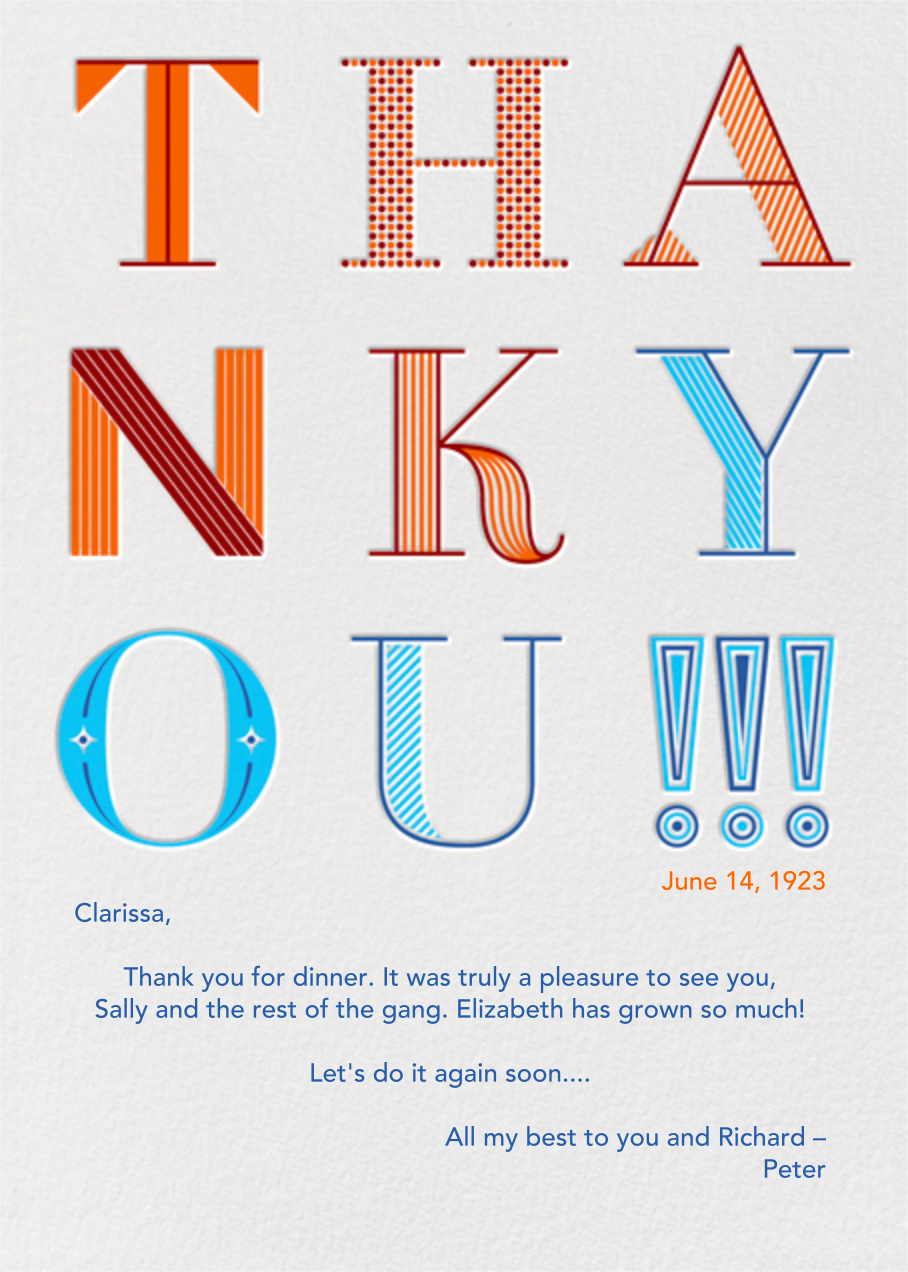 9UP Thank You!!! - Paperless Post - Thank you