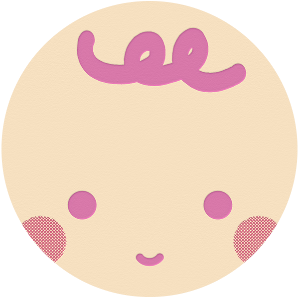 Baby Face - Pink - The Indigo Bunting - Baby shower