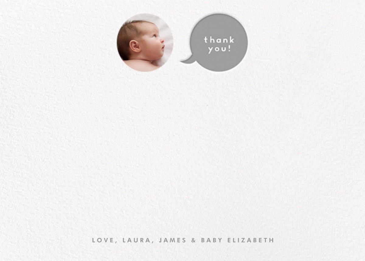 Polka Dot Baby (Thank You) - Gray - The Indigo Bunting - Alicia's Test