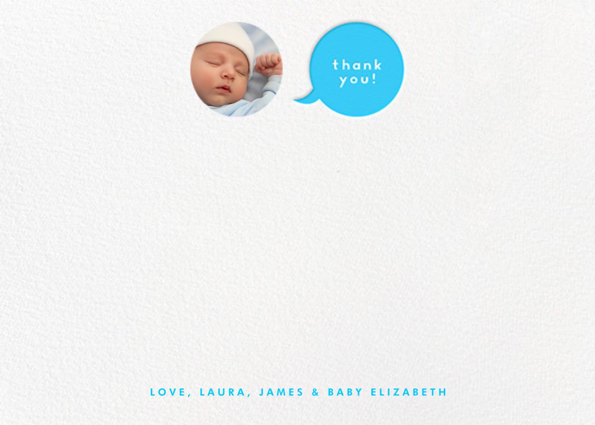 Polka Dot Baby (Thank You) - Blue - The Indigo Bunting