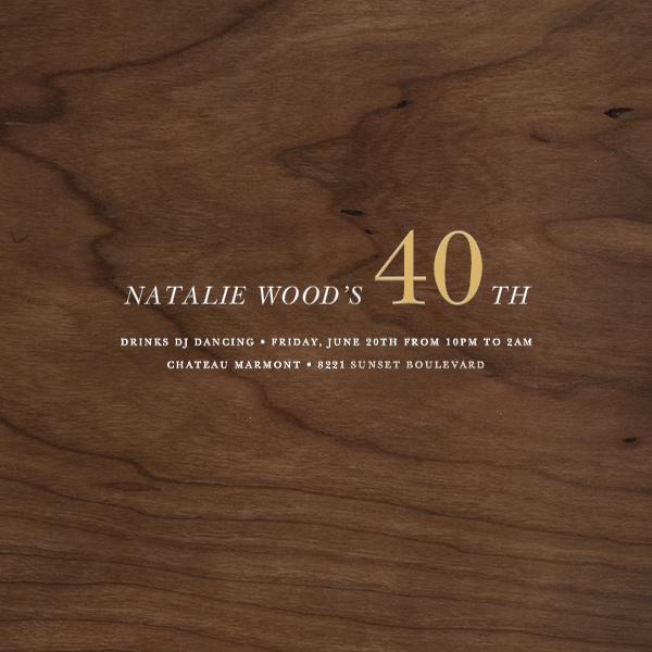 Wood Grain Dark - Square - Paperless Post - Adult birthday