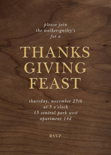 Wood Grain Dark - Tall - Paperless Post - Thanksgiving