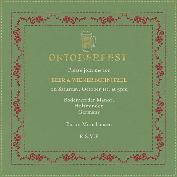 Wunderbar - Paperless Post - Oktoberfest
