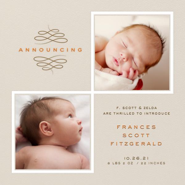 Square Duo Photos - Paperless Post - Birth