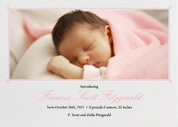 Squared Corner Frame - Blossom - Paperless Post - Birth