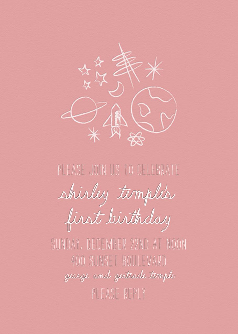 Space Bunch - Pink - Paperless Post - Kids' birthday