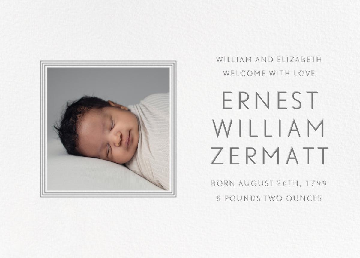 Square Frame - Horizontal (Gray) - Paperless Post - Birth
