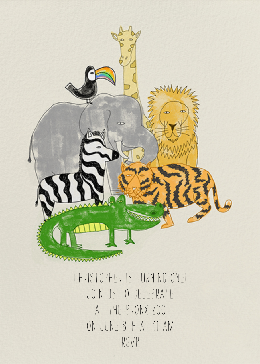 Safari Friends - Paperless Post - Kids' birthday