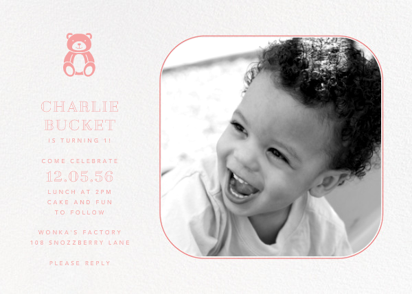 Rounded Corners - Blossom - Paperless Post - 1st birthday