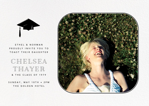 Rounded Corners - Black - Paperless Post - Graduation party