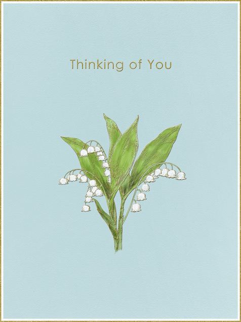 Lily of The Valley - Thinking of You (Light Blue) - Paperless Post - Sympathy