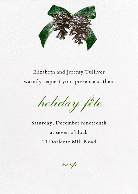 Winter Pine - Green - Paperless Post - Christmas party