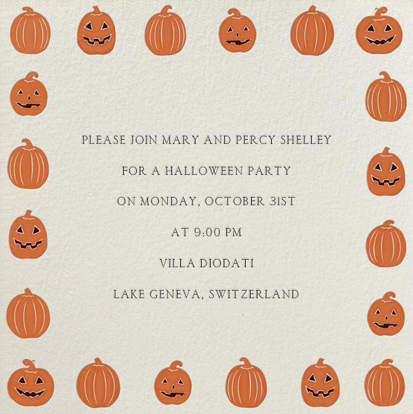 Jack-O-Lantern - Paperless Post - Halloween