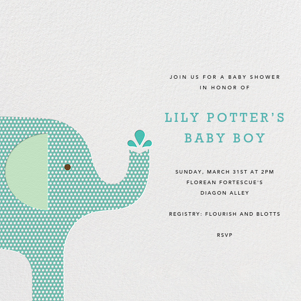 Modern Elephant - Celadon - Petit Collage - Baby shower