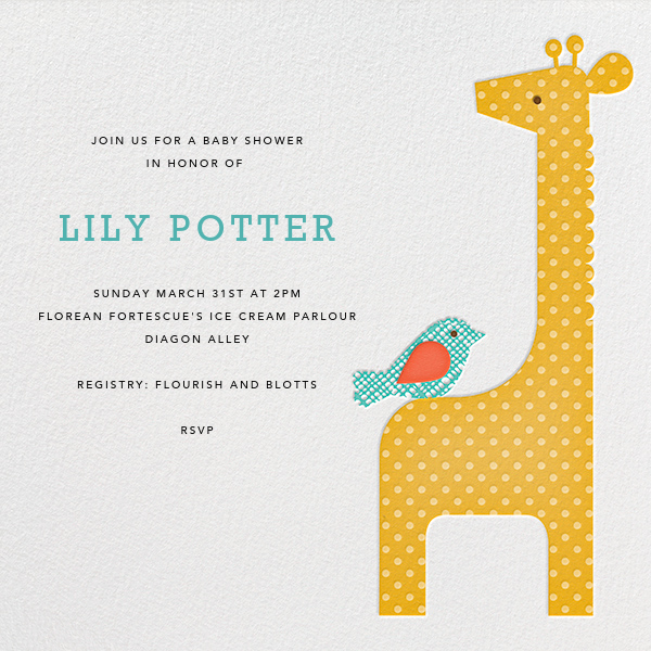 Modern Giraffe - Petit Collage - Baby shower