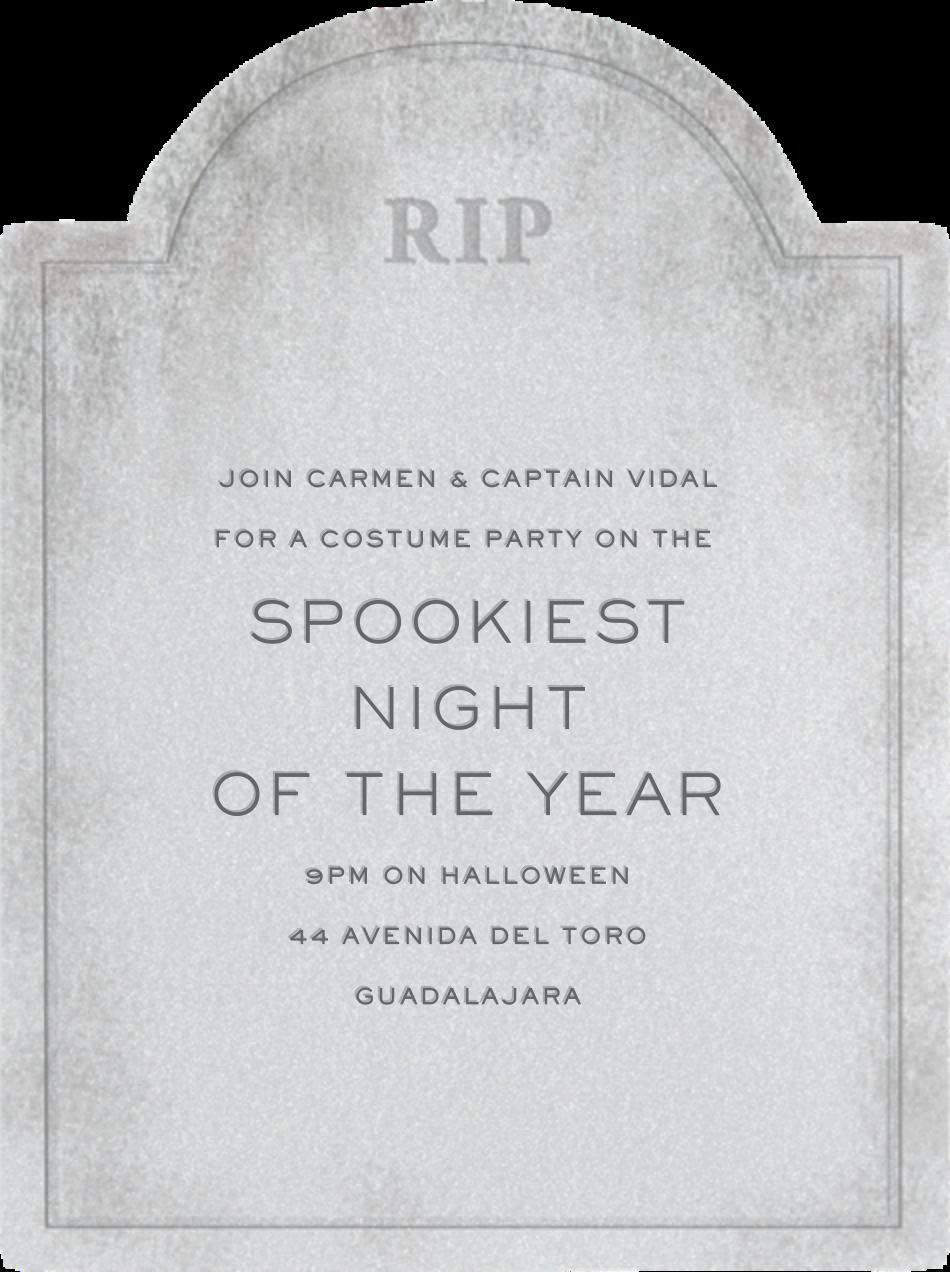 Tombstone - Paperless Post - Halloween