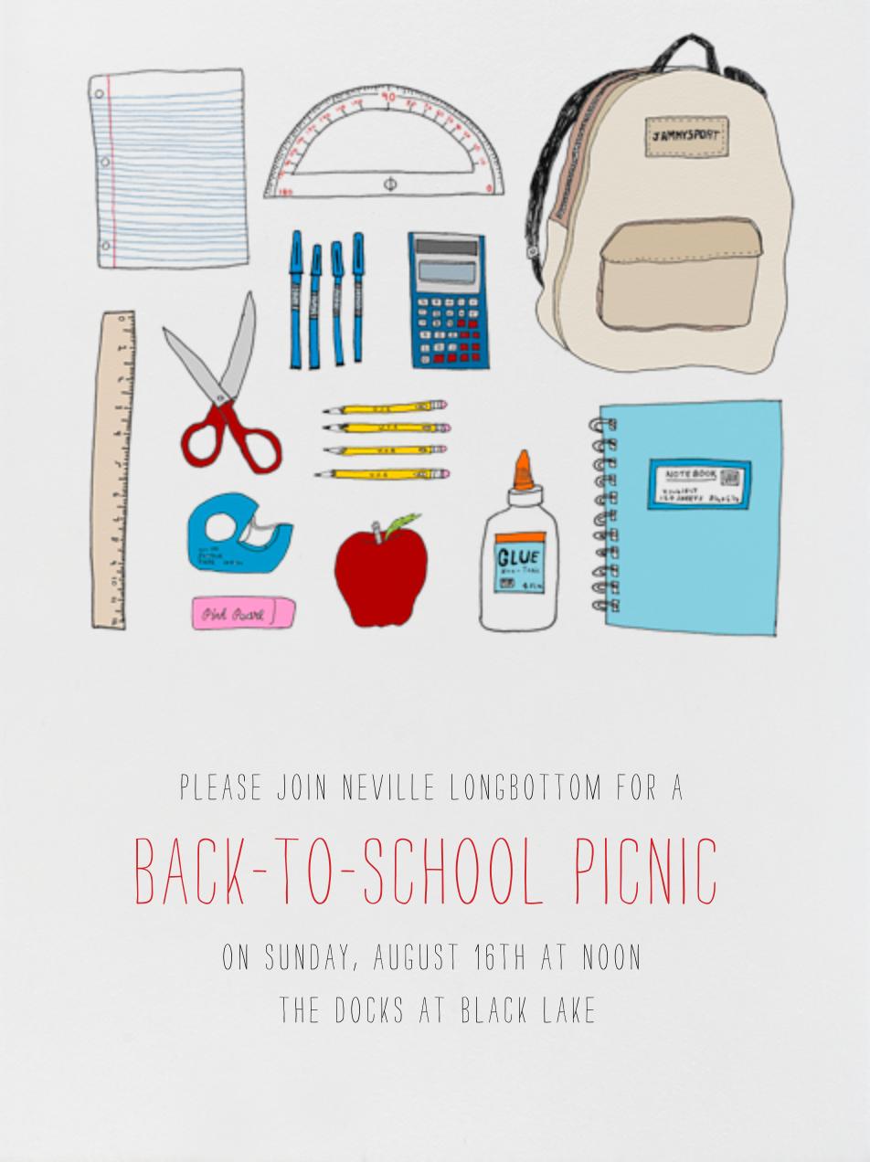 Back 2 School Supplies - Paperless Post - Back-to-school