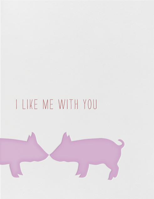 Kissing Pigs - Linda and Harriett - Valentine's Day