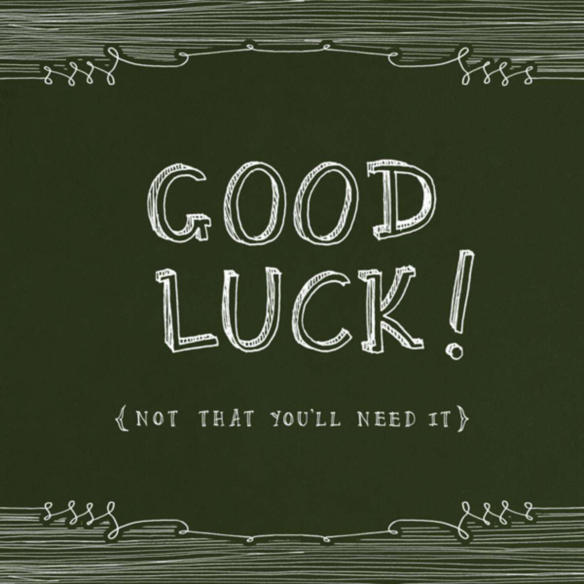 Chalkboard - Good Luck - Paperless Post