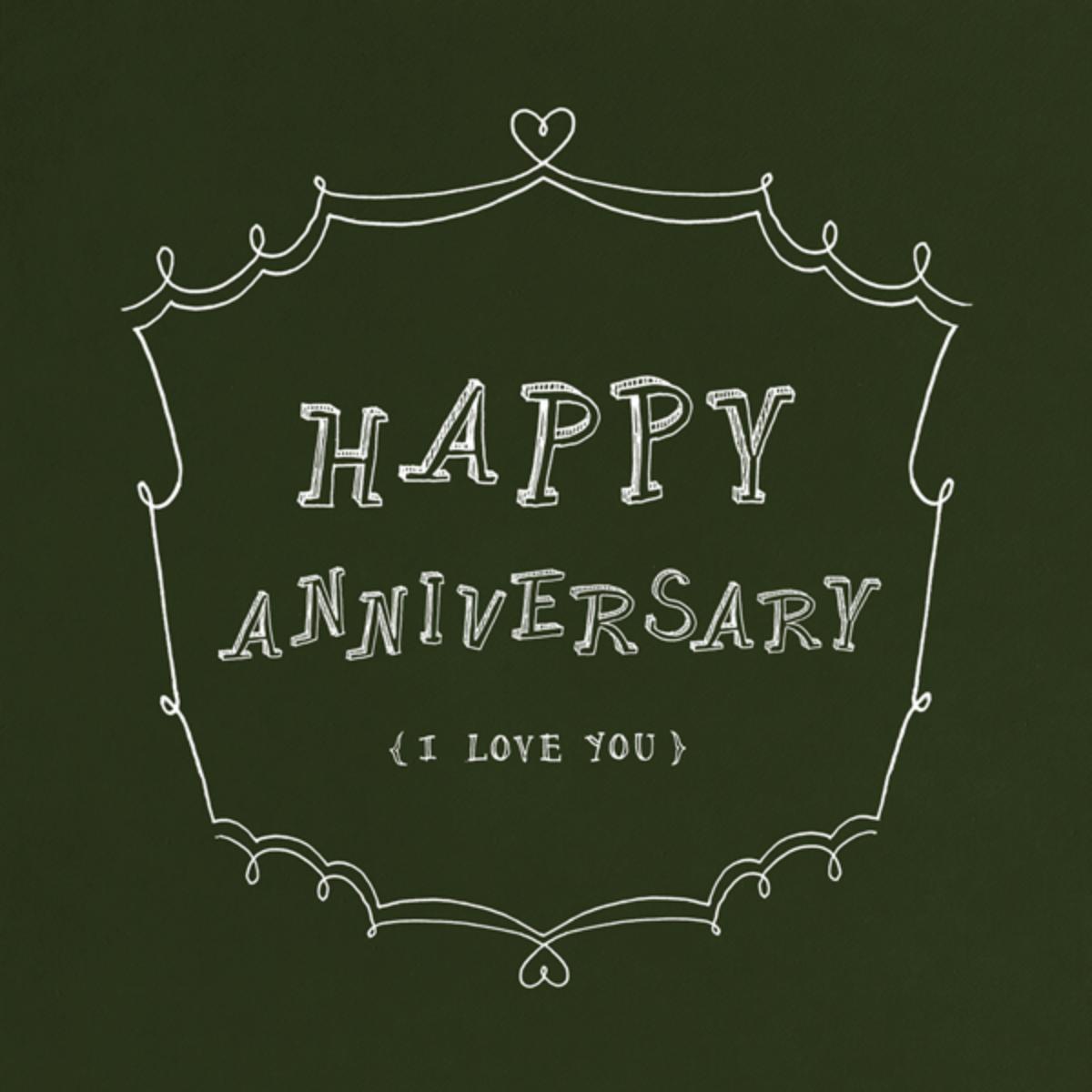 Chalkboard - Happy Anniversary - Paperless Post