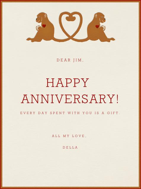 Monkey Love - Paperless Post - Anniversary