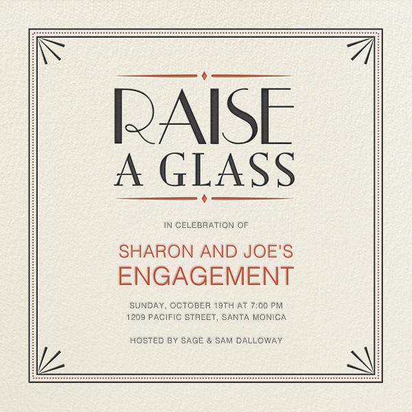 Raise a Glass - Crate & Barrel - Engagement party