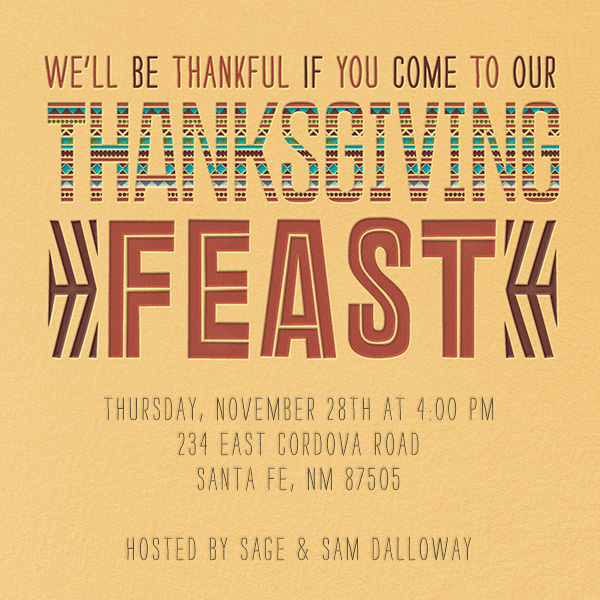 Southwest Thanksgiving - Crate & Barrel - Thanksgiving