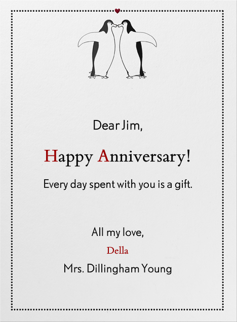 Penguin Love - Paperless Post - Anniversary cards