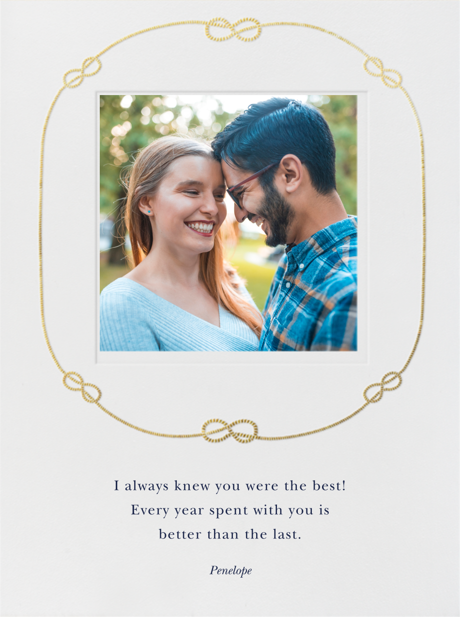 Costa Smeralda - Gold - Paperless Post - Anniversary cards