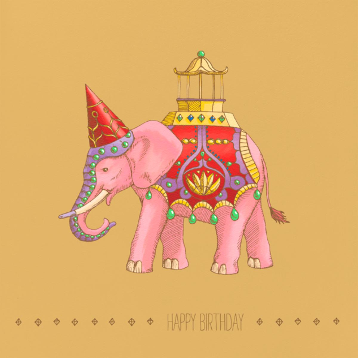 Majestic Elephant - Paperless Post - Birthday