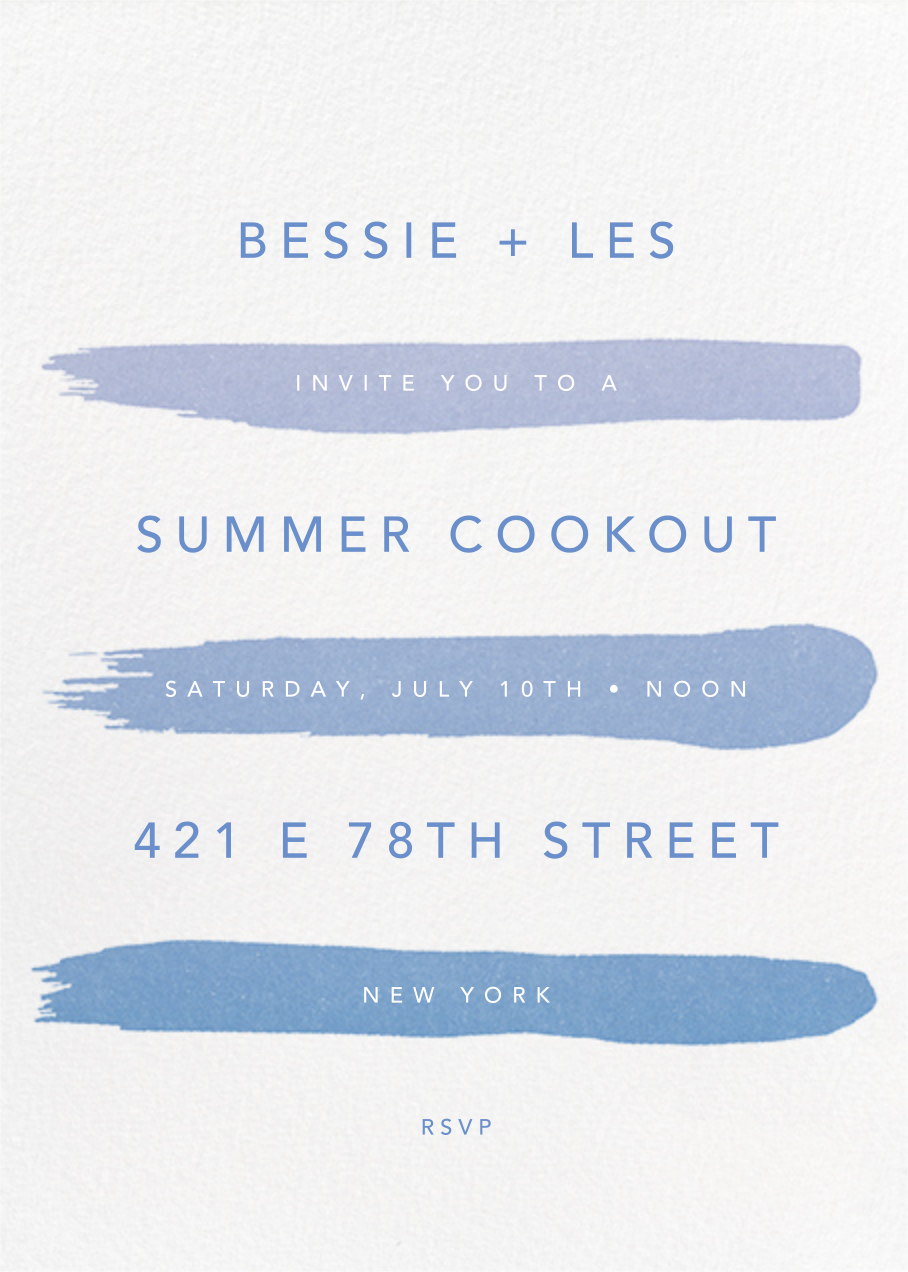 Gradient Brush Strokes - Blue - Paperless Post - Cocktail party