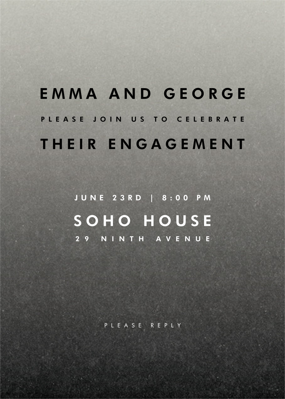 Gradient Full - Black - Paperless Post - Engagement party