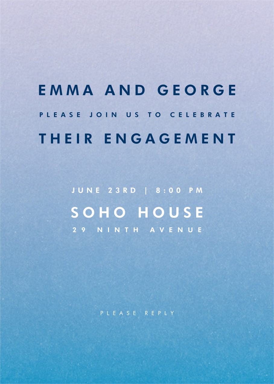 Gradient Full - Blue - Paperless Post - Engagement party