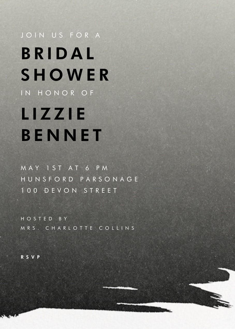Gradient Painted - Black - Paperless Post - Bridal shower