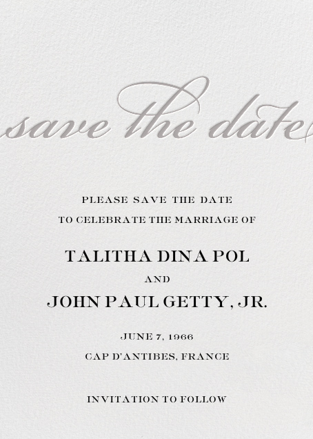 Simple Script (Save the Date) - Gray - Paperless Post - Save the date