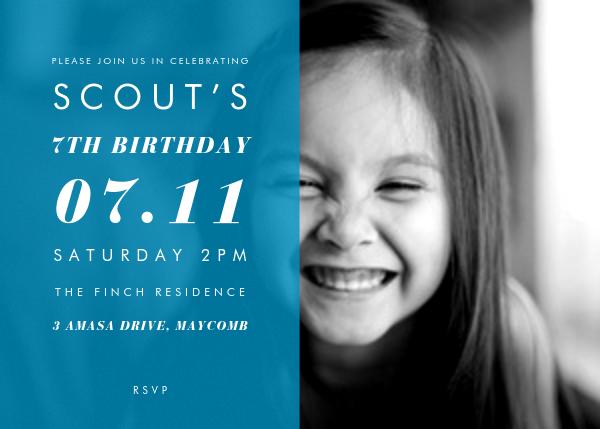 Horizontal Split - Cyan - Paperless Post - Kids' birthday
