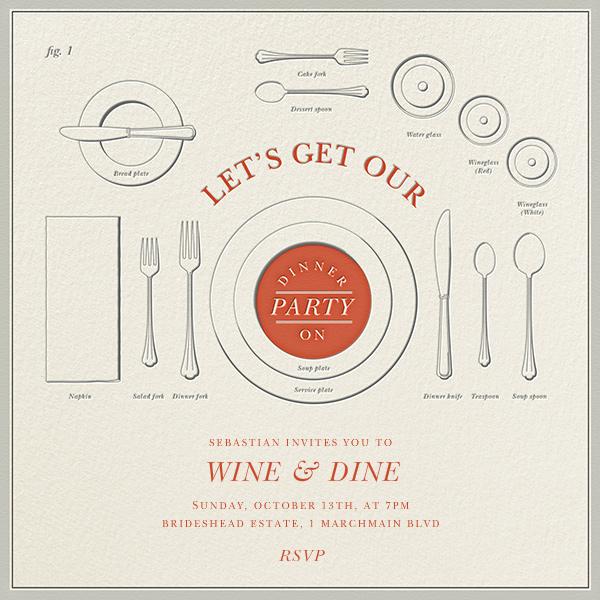 Eats and Etiquette - Derek Blasberg - Dinner party