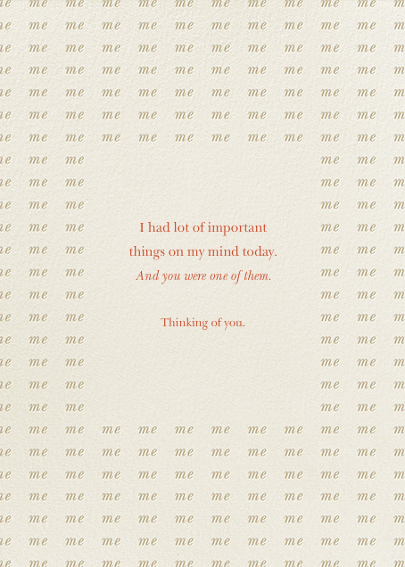 Thinking of You. For Once. - Derek Blasberg - Just because - card back
