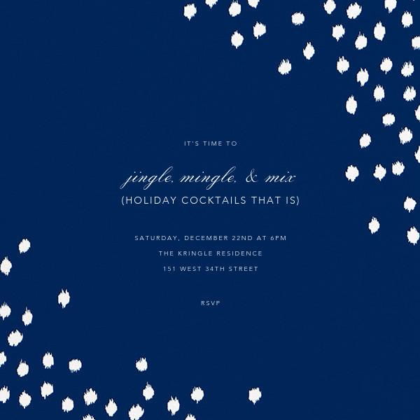 Ikat Dot (Square) - Dark Blue - Oscar de la Renta - Company holiday party