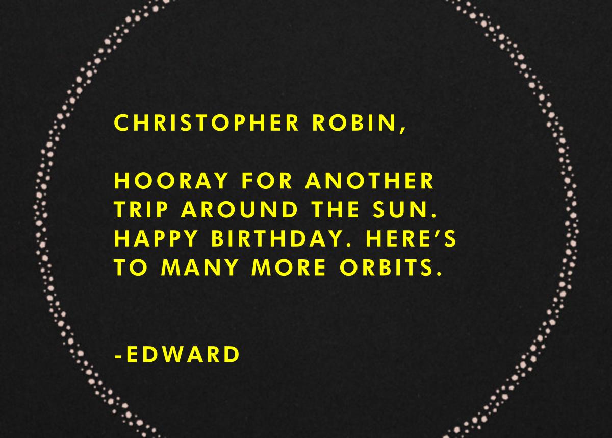 Solar System - Paperless Post - Birthday - card back
