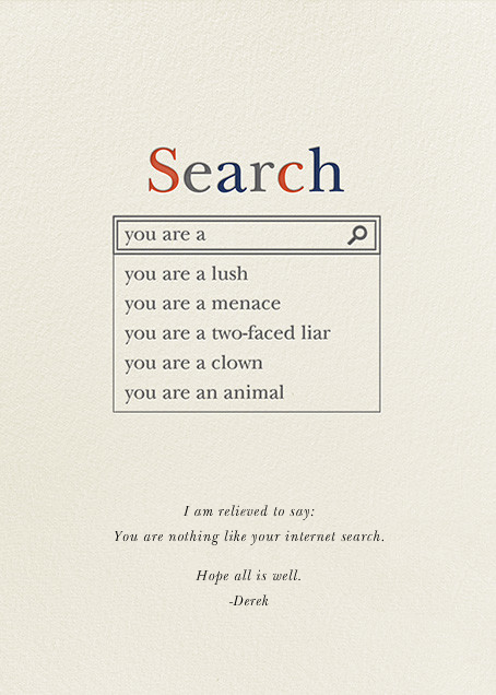Really Real Search Results - Derek Blasberg - Just because