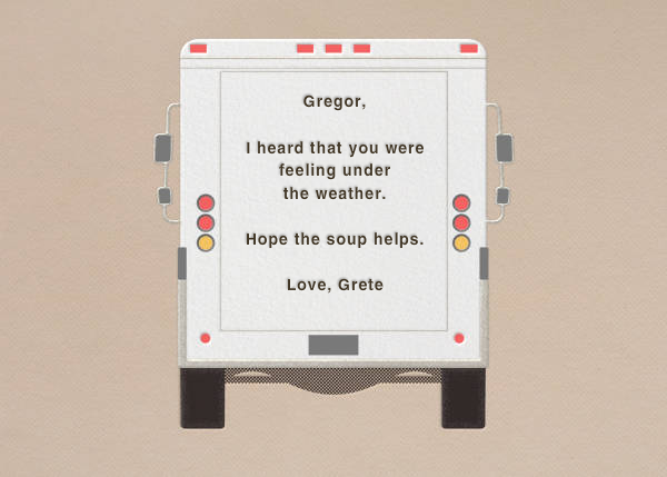 Chicken Soup - Delivery Truck - Paperless Post - Get well - card back